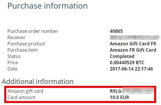 Code à payer sur Amazon avec Bitcoins