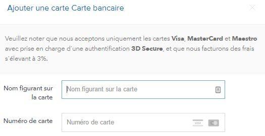Fournir des informations sur sa carte bleue visa avec Coinbase