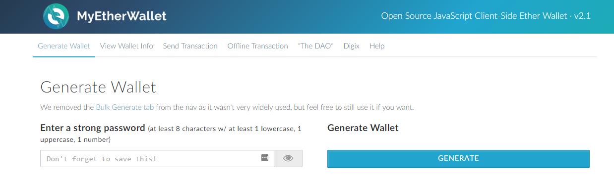 Generer un wallet ethereum