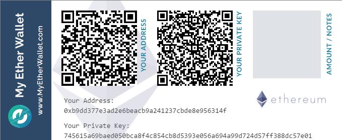 Imprimer son wallet ethererum sur mytherwallet
