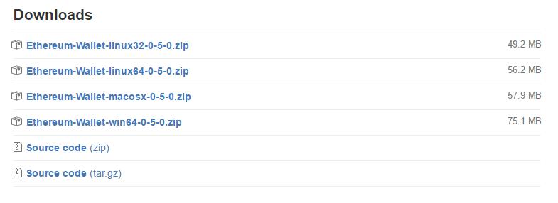 Telecharger Mist sur GitHub pour créer un wallet ethereum