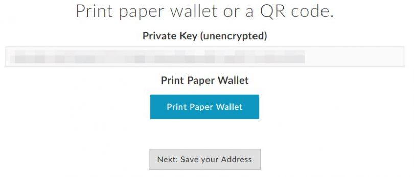 Clés privées portefeuille Ethereum