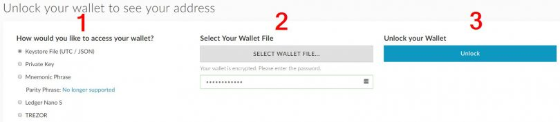 Débloquer un wallet Ethereum