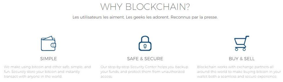Avantages du wallet Blockchain.info