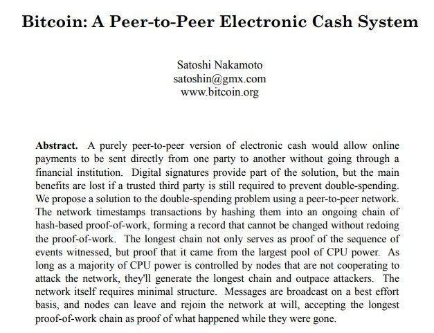 Le White Paper du Bitcoin