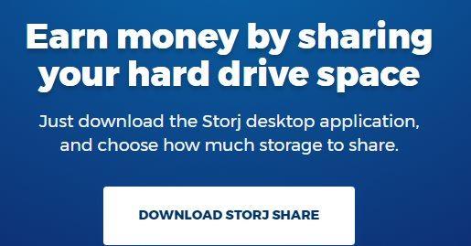 Gagner de l'argent en louant son disque dur avec Storj