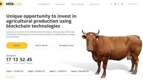 Milk coin investissement dans l'agriculture avec la Blockchain