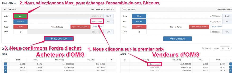 Tutoriel plateforme de trading Bittrex, pour acheter des crypto-monnaies