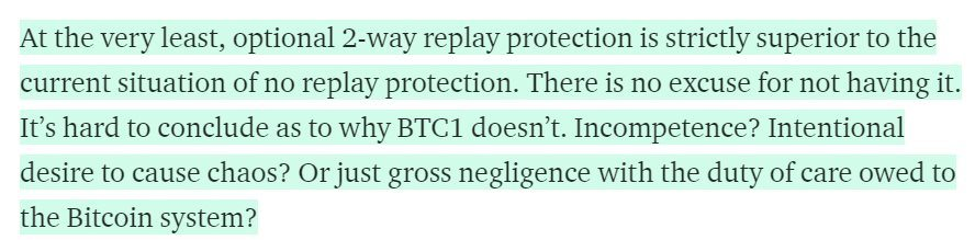 Conclusions replay attacks segwit2x