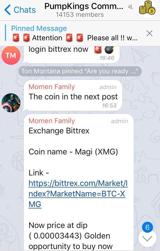 groupe Telegram nom de la crypto-monnaie