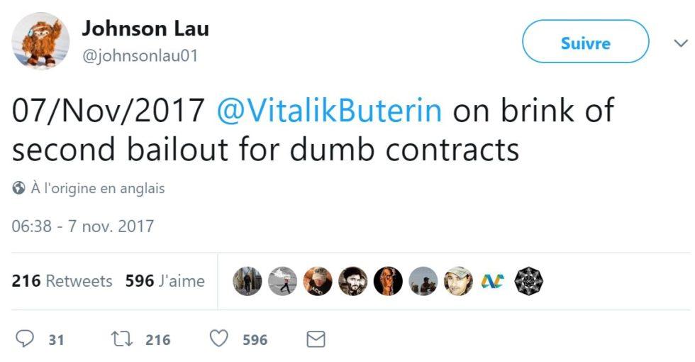 Johnson Lau twitter dumb contracts