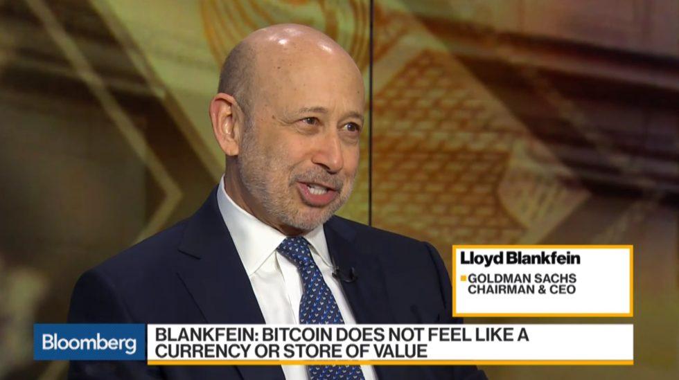 Lloyd Blankfein Bitcoin Bloomberg