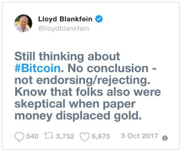 Llyod Blankfein Twitter
