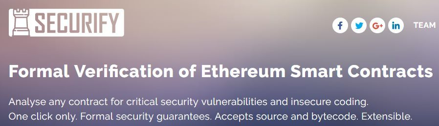 Audit de smart contracts avec Securify
