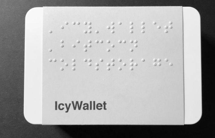 Wallet Bitcoin pour les non voyants, Icy Wallet