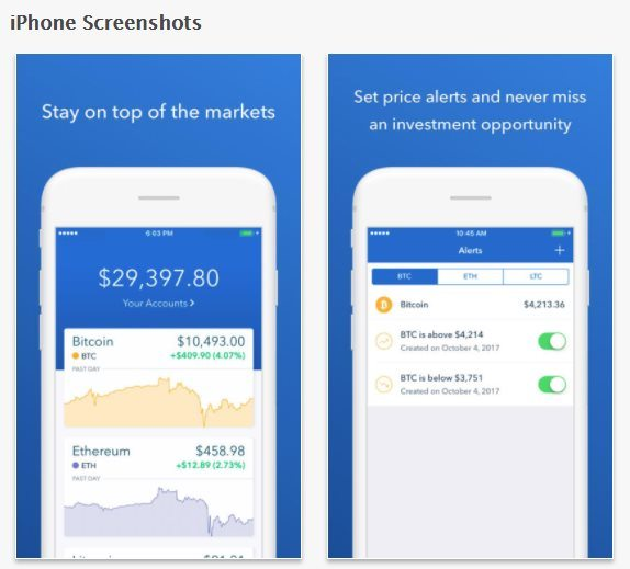 Coinbase iPhone