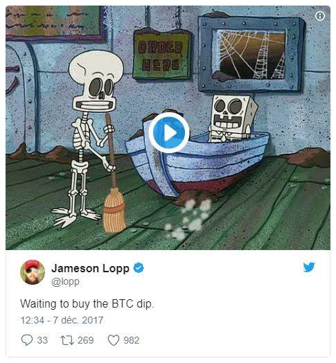 Jameson Lopp Twitter BItcoin Dip