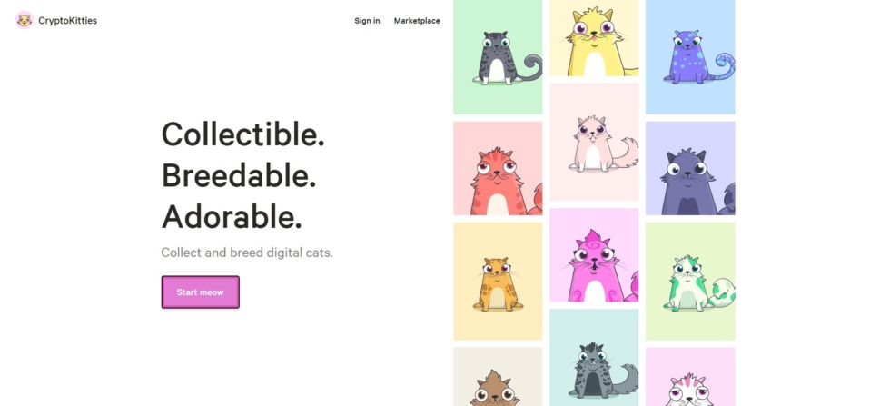 Jeu Ethereum Cryptokitties