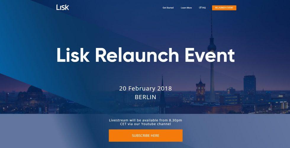 L'évènement relaunch de Lisk