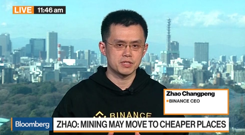 Zhao Changpeng Bloomberg