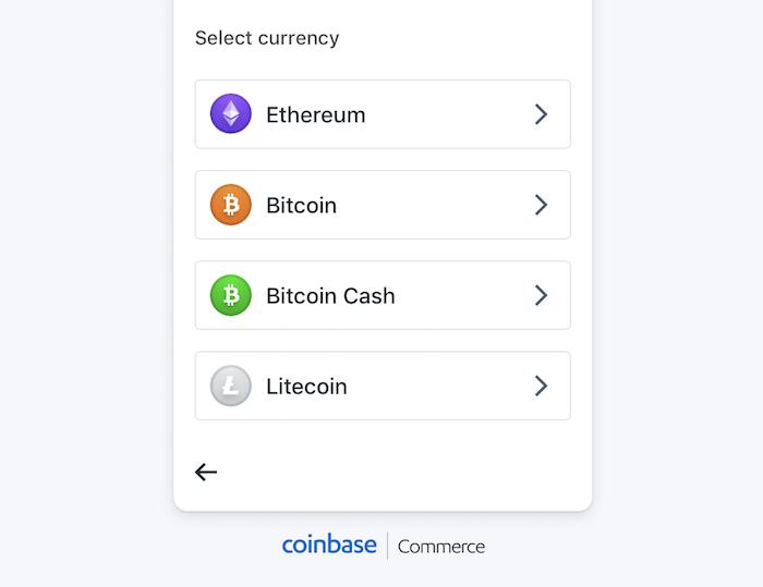 Les monnaies prises en charge sur Coinbase Commerce