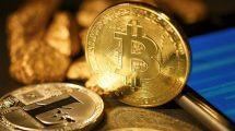 Pièces de Bitcoin et de Litecoin