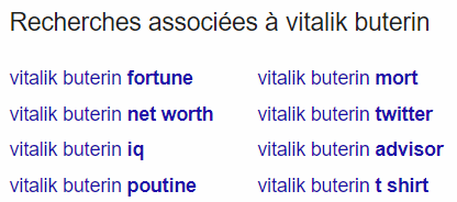 Recherches Google Vitalik Buterin