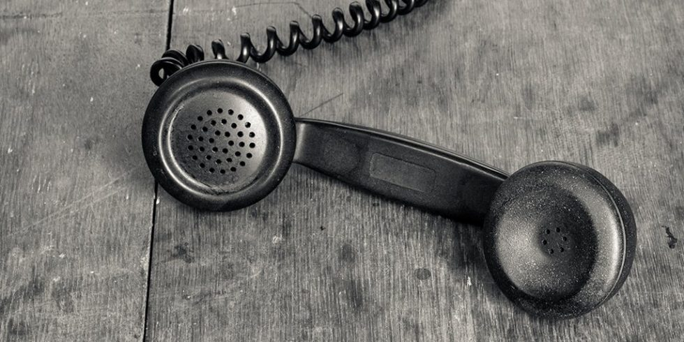 L'image d'un téléphone noir