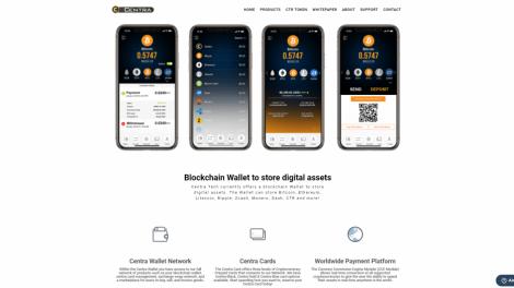 Le site Centra.tech