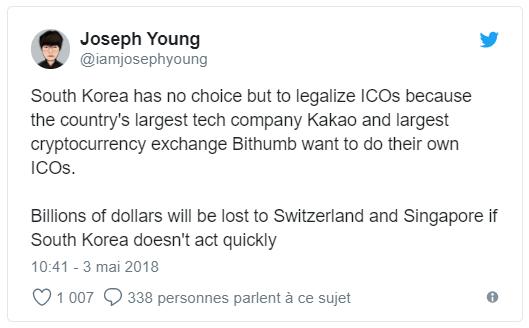 Joseph Young Corée du Sud Twitter