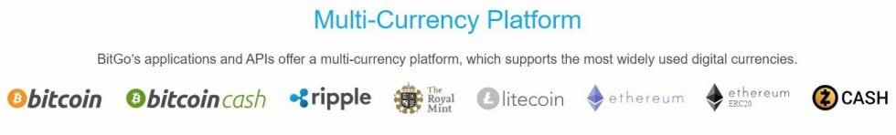 BitGo portefeuille multi-devises