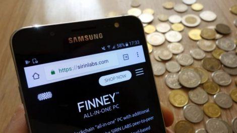 Smartphone Blockchain Finney