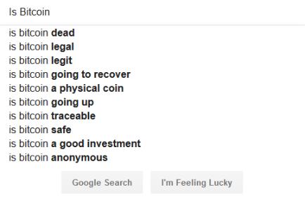Recherche Google bitcoin mort