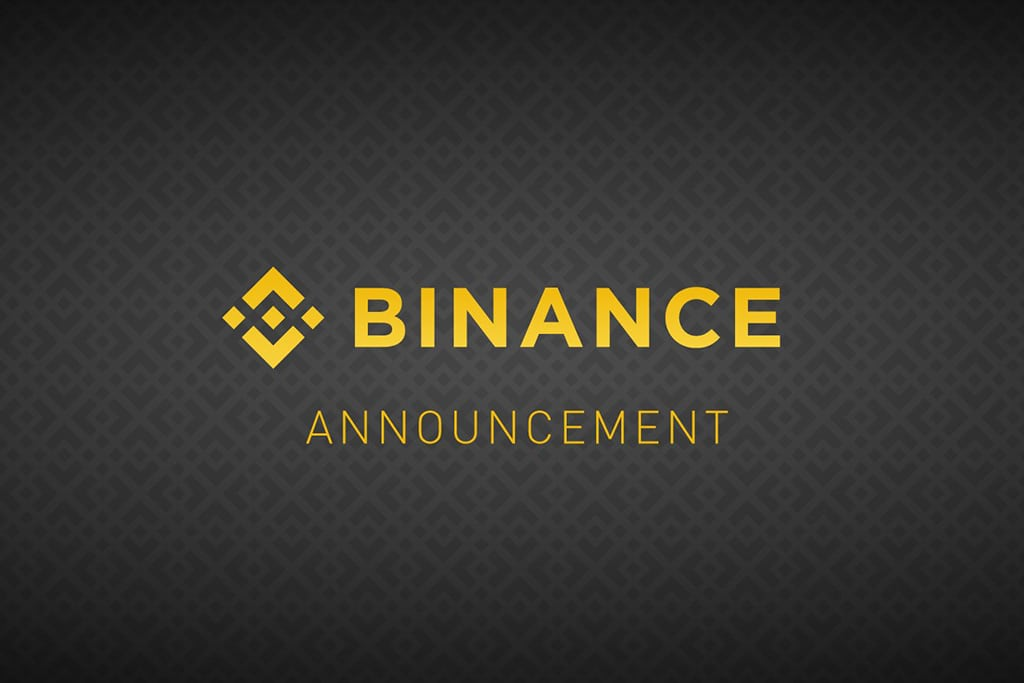 Annonce Binance