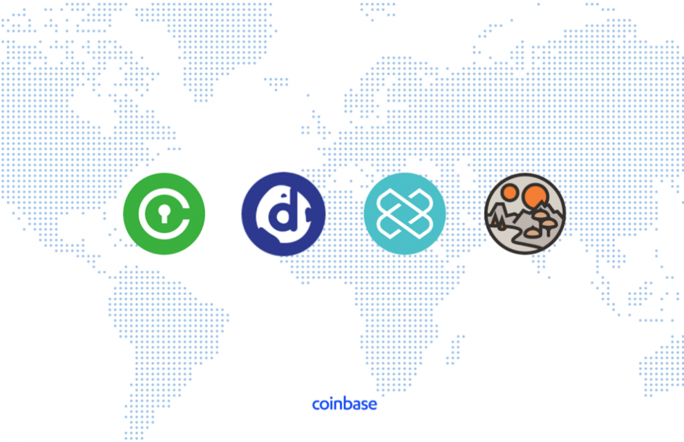 Civic Decentraland Loom District0X sur Coinbase