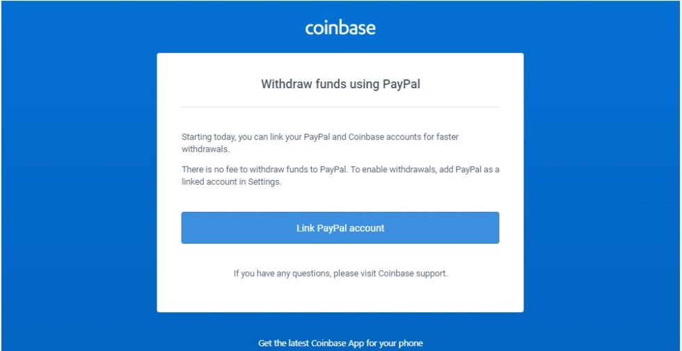 Retraits fonds paypal sur Coinbase