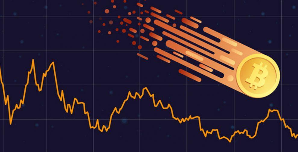 Baisse cours prix Bitcoin
