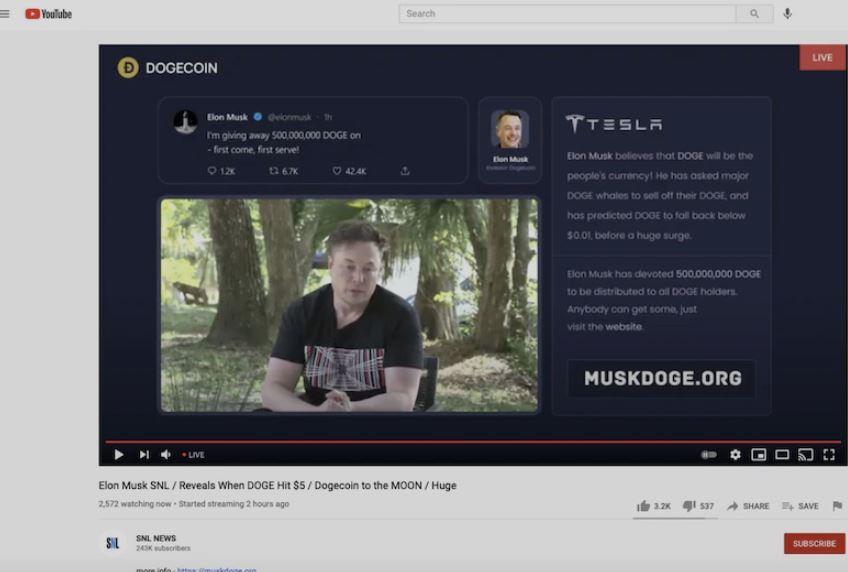 Escroquerie Elon Musk