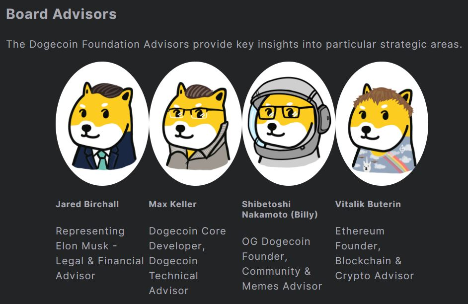 Conseillers de la fondation Dogecoin