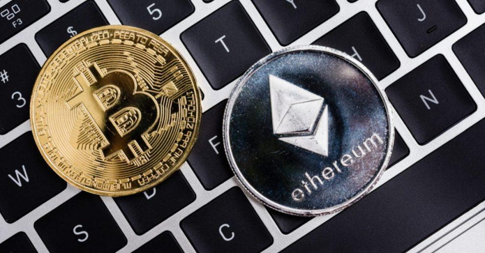 Bitcoin Ethereum pièces